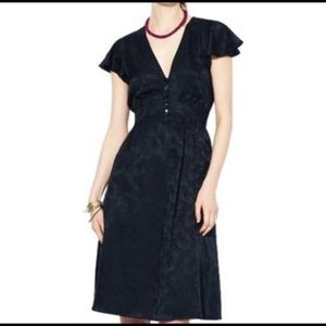 Marc by Marc Jacobs Silk Navy Button Front Dress